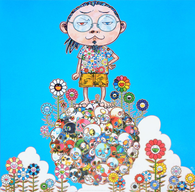 Takashi Murakami, 'Me Among The Supernatural', 2013, Print, Offset lithograph in colors on smooth wove paper, Upsilon Gallery