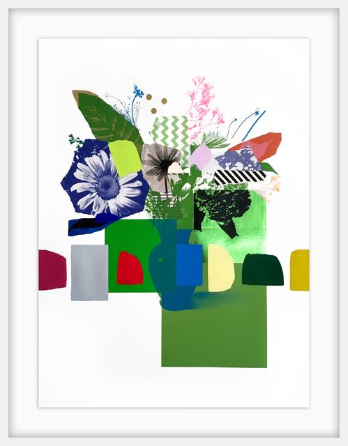 Emily Filler, 'Paper Bouquet (green on green)', 2020, Newzones