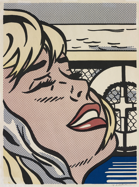 Roy Lichtenstein, 'Shipboard Girl', 1965, Print, Offset lithograph in colours (faded), on lightweight wove paper, with wide margins., Phillips