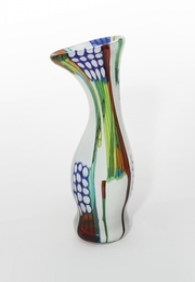 A canne and colored murrine vase