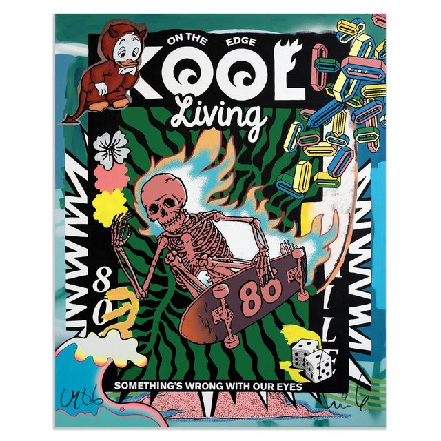 FAILE, 'Kool Living Print', 2020, Print, Archival Ink on Entrada 290gsm Cotton Rag, Blackline Gallery