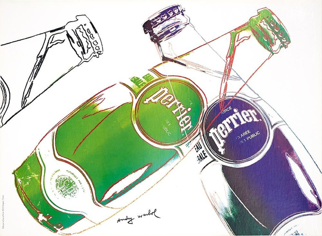Andy Warhol, 'Perrier', 1983, Print, Offset lithograph, EHC Fine Art Gallery Auction