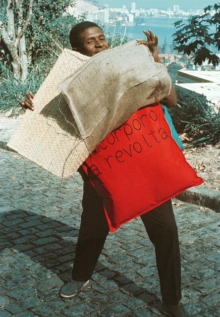 Hélio Oiticica, 'P15 Parangolé Cape 11, I Embody Revolt (P15 Parangolé Capa 12, Eu Incorporo a Revolta) worn by Nildo of Mangueira', 1967, Whitney Museum of American Art