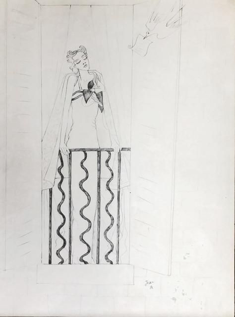 , 'Elegante a sa fenêtre et oiseau messager,' ca. 1935, Fairhead Fine Art Limited