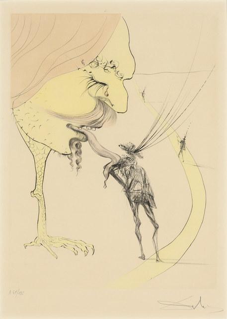 Salvador Dalí, 'PICASSO: A TICKET FOR GLORY (F. 74-8C; MICHLER/LÖPSINGER 670)', 1974, Doyle