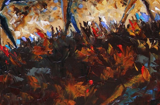Laurie Pace, 'Original Horse Painting 'Running the Ridge at Dusk' Colorful Equine Art, Modern Western Art', 2017, Painting, Oil on Canvas, Fringe Gallery