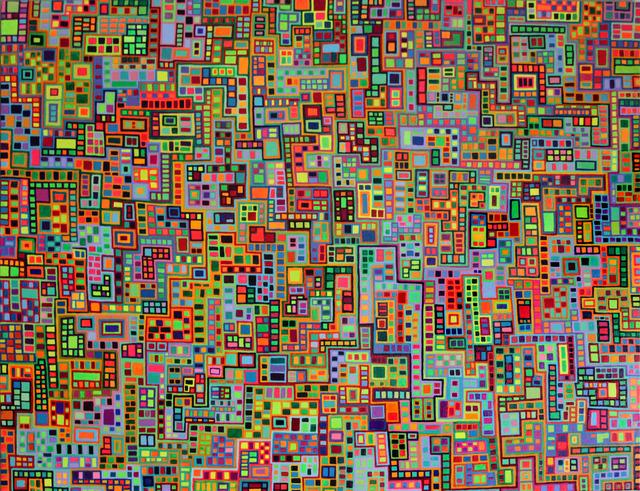 , 'Tiled City II,' 2014, InLiquid