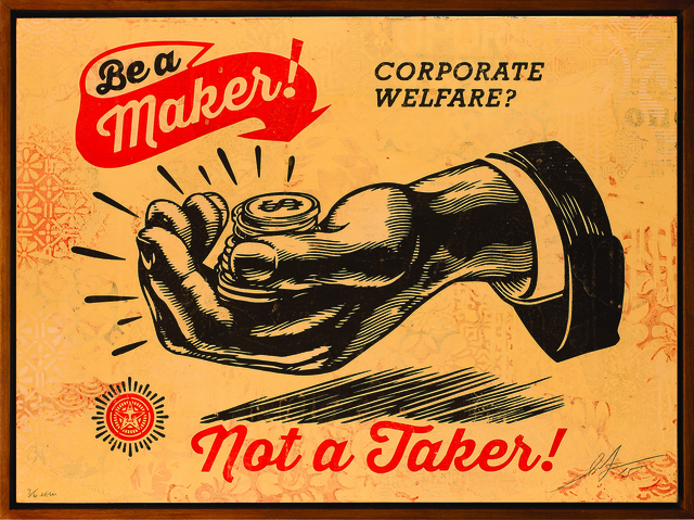 , 'Corporate Welfare,' 2015, Subliminal Projects