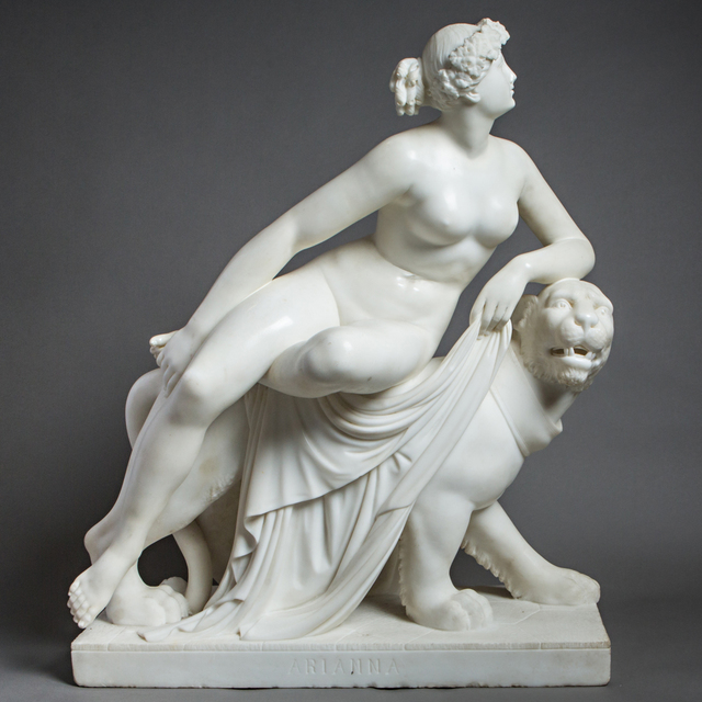 Unknown Artist, 'Marble Sculpture of Ariadne Seated on a Panther', 1800-1900, Barakat Gallery