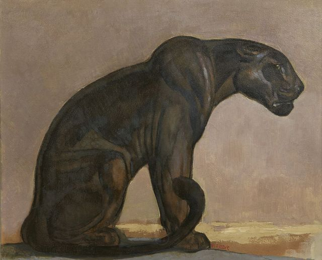 , 'Black Panther Sitting,' ca. 1925, Galerie Marcilhac