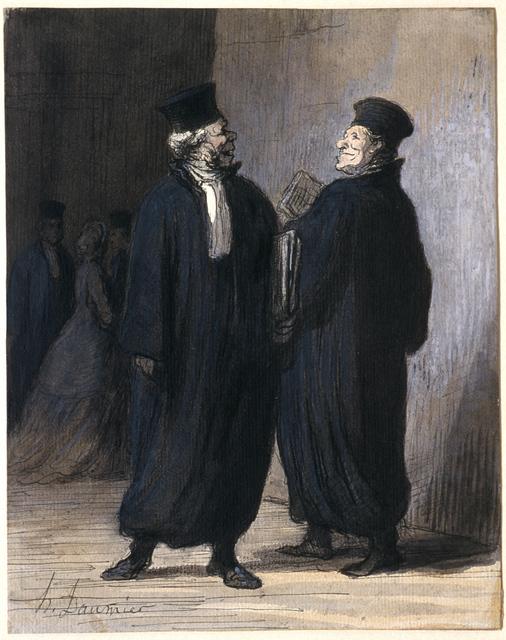 Honoré Daumier, 'Two Colleagues', ca. 1855, Clark Art Institute