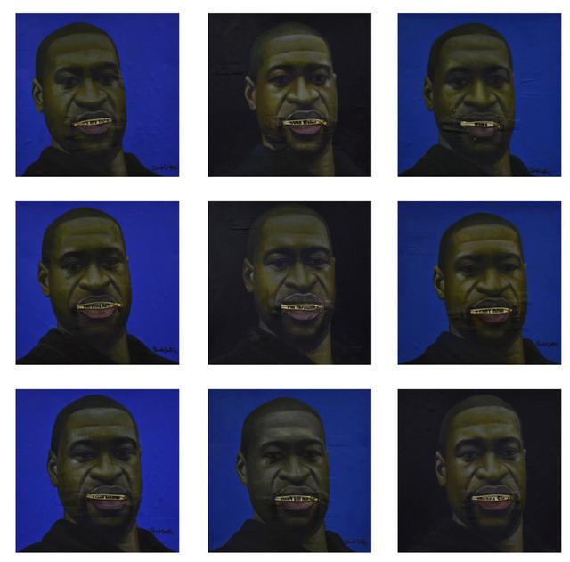 oluwole omofemi, 'George Floyd', 2020, Painting, Acrylic on Canvas, Signature African Art