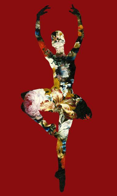 Agent X, 'En Dedans pirouette avec des fleurs', 2018, Gitana Rosa Gallery