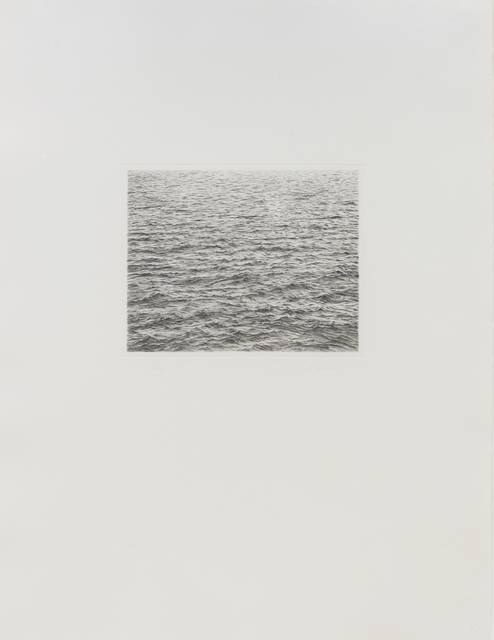 , 'Drypoint Ocean Surface,' 1983, Susan Sheehan Gallery