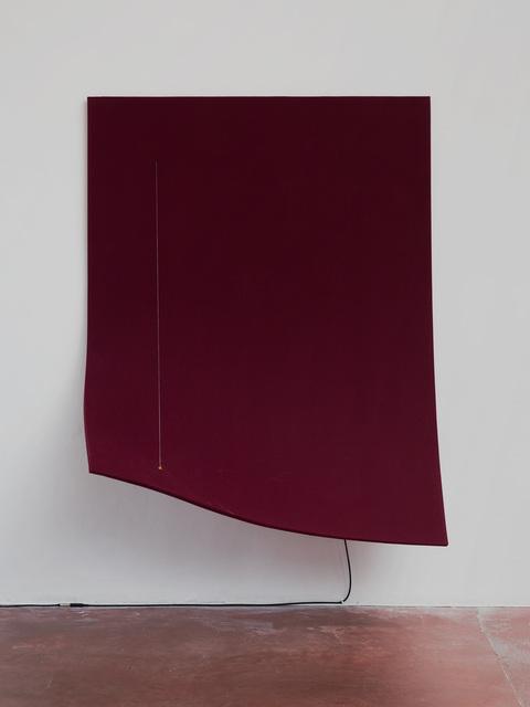 , 'Work On Felt (Variation 12), Burgandy,' 2016, Dvir Gallery