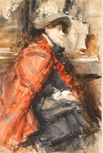 , 'Seated Lady in a Red Cape,' , Trinity House Paintings
