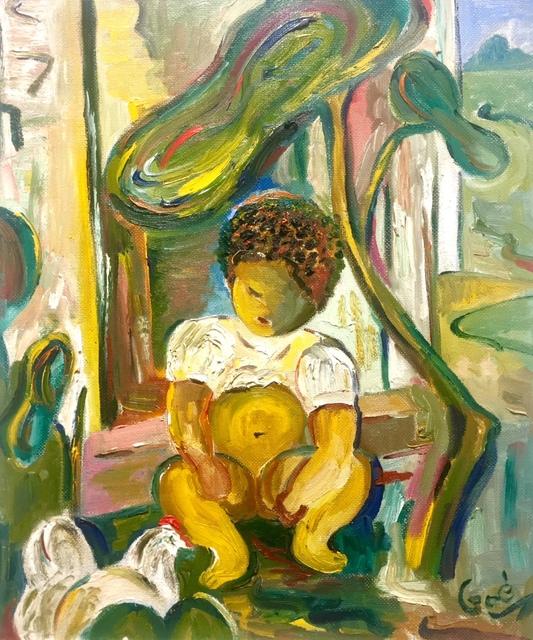 , 'Little boy & chicken,' ca. 1960, Absolut Art Gallery