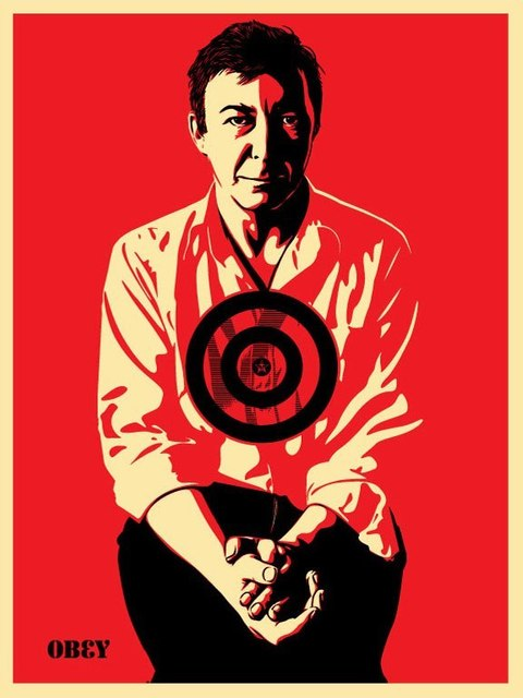 Shepard Fairey, 'Jasper Johns Red', 2009, RUDOLF BUDJA GALLERY