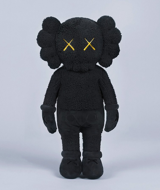KAWS, 'KAWS Plush Companion (KAWS black plush) ', 2019, Lot 180