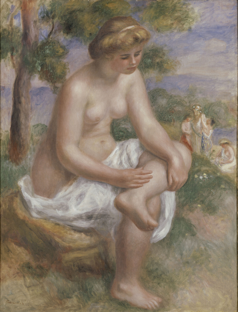 Pierre-Auguste Renoir, 'Bather Seated in a Landscape, Called Eurydice', 1902–4, Clark Art Institute