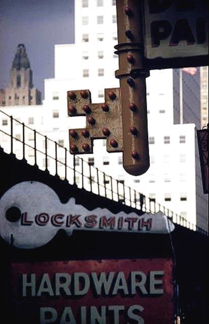 Ernst Haas, 'Locksmith Sign, New York', 1952, Atlas Gallery
