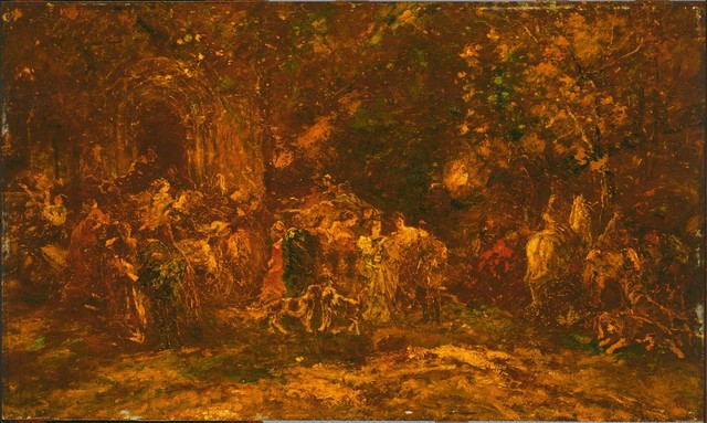 Adolphe Monticelli, 'Woodland Worship', ca. 1872, Phillips Collection