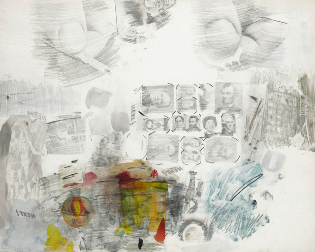 Robert Rauschenberg, 'Untitled', 1961, Drawing, Collage or other Work on Paper, Solvent transfer, pencil, watercolor and gouache on paper mounted to paper, Sotheby's: Contemporary Art Day Auction