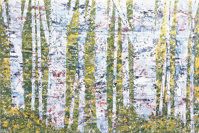 David Skillicorn, 'Nel Bosco 2-2', 2019, Painting, Mixed media on canvas, Amy Simon Fine Art