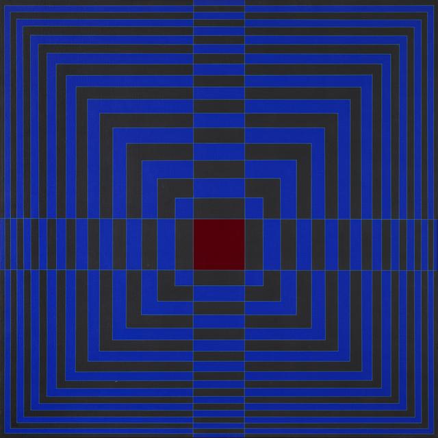 , 'Blue Cross With Red (Cruz azul con rojo),' 1968, Museo de Arte Contemporáneo de Buenos Aires