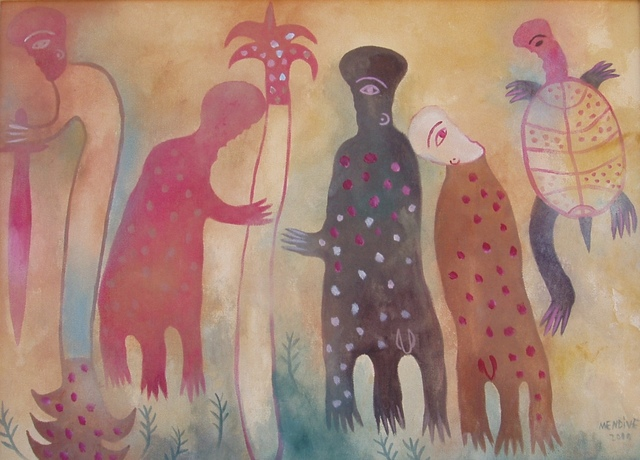 Manuel Mendive, 'Untitled (Spirits)', 2000, ZQ Art Gallery