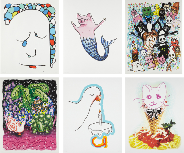 Urs Fischer, 'Stonewaller; Cakesniffer; Pet Parade; Goodnight; Spaghetti Cat; and Pigmaid', 2015, Phillips