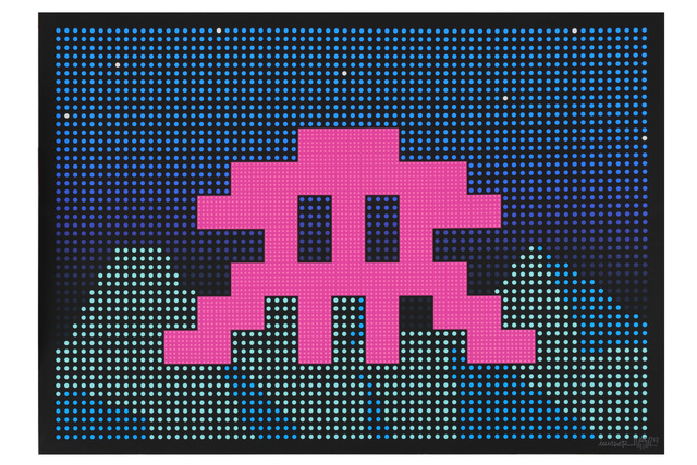 Invader, 'L.E.D.', 2017, Chiswick Auctions