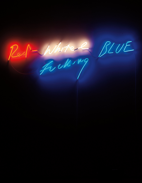 Tracey Emin, 'Red, White and Fucking Blue', 2002, Installation, Red, white and blue neon, Phillips