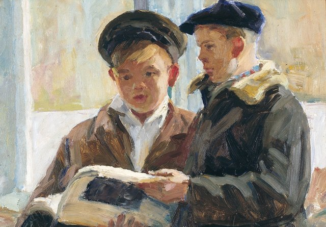 , 'School boys,' 1957, Surikov Foundation