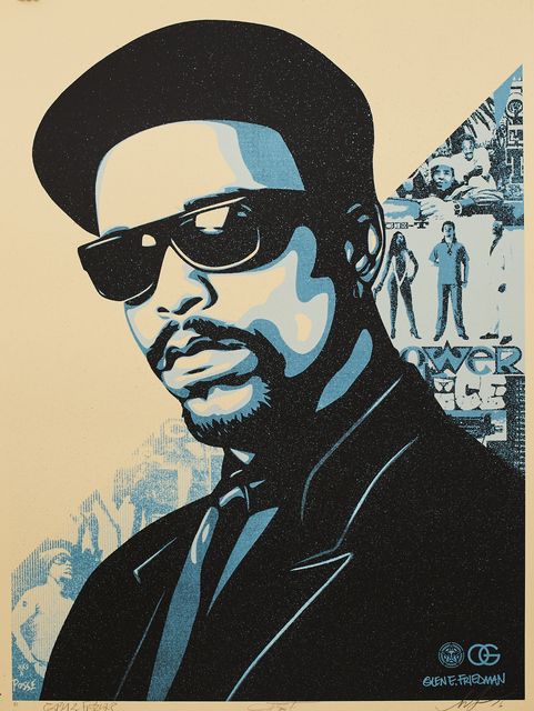 Shepard Fairey (OBEY), 'Ice T OG Blue', 2016, Sping/Break Benefit Auction