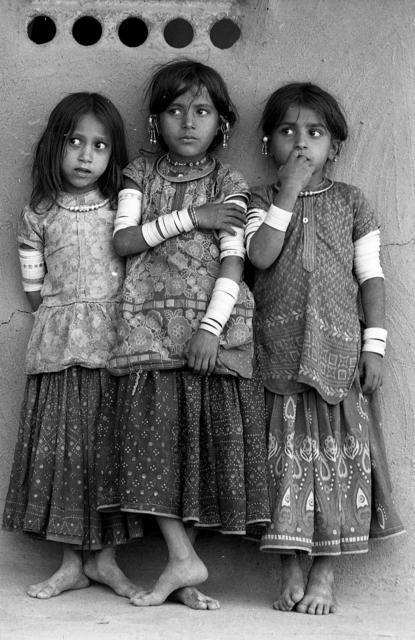, 'Harijan girls, Banni, Kutch, Gujarat,' 1971, Tasveer