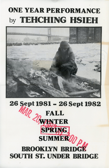 , 'Sam Hsieh, One Year Performance: Outdoors - Spring, Poster,' 1982, James Fuentes