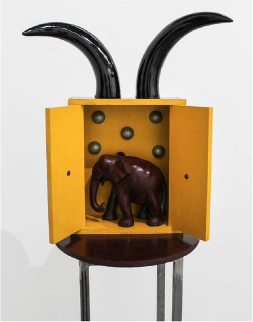 , 'Magic box with elephant under the stars protected by a heart,' 1993-1998, Instituto de Visión