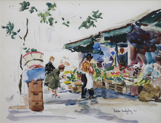 Waldo Park Midgley, 'Italian Market Scene', 1972, Phillips Gallery