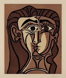 Portrait de Jacqueline de Face II (Portrait of Jacqueline, Face II)