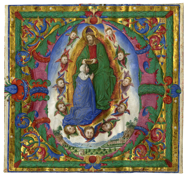 , 'Coronation of the Virgin in an initial 'D',' c. 1485-1490, Les Enluminures