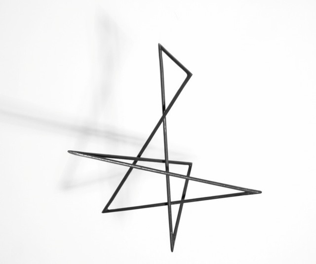 , 'Trait 61 noir,' 2014, Galerie Marie-Robin