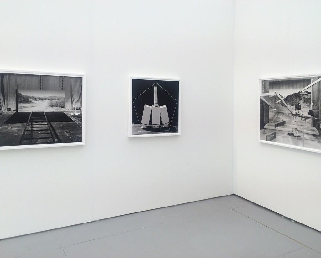 Works by Rodrigo Valenzuela on display during UNTITLED. Image courtesy the artist.