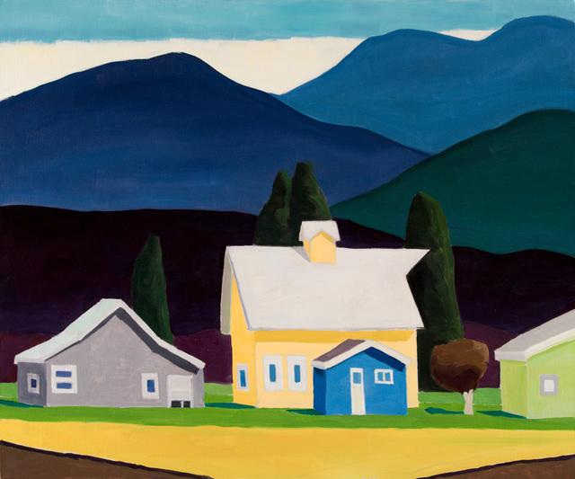 , 'Big Yellow Barn,' 2018, WaterWorks Gallery