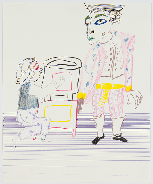 , 'Untitled (two figures and a stove),' 2016, MARTOS GALLERY