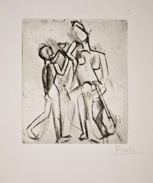 , 'Deux figures nues: Femme à la guitare et garçon à la coupe,' 1908, John Szoke