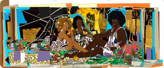 Mickalene Thomas, 'Le déjeuner sur l'herbe: Les Trois Femmes Noires', 2010, Seattle Art Museum