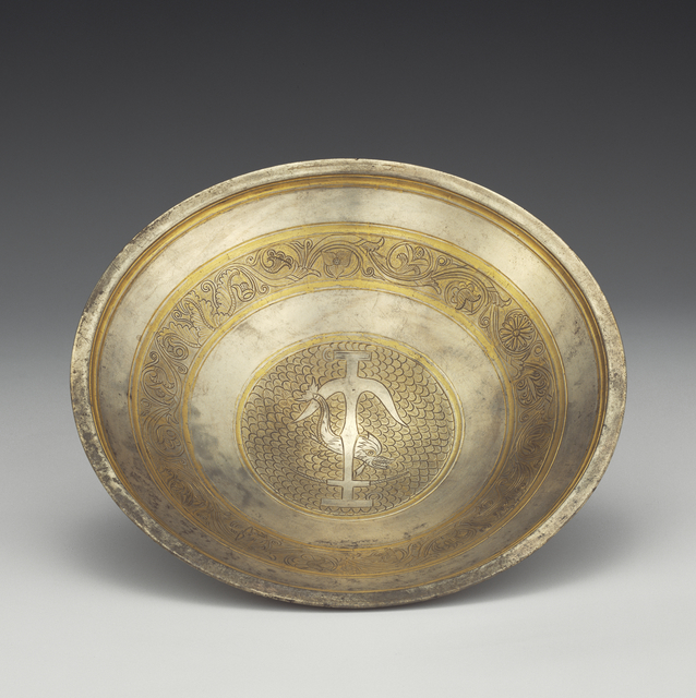 'Bowl with Anchor and Dolphin Medallion',  2nd century B.C., J. Paul Getty Museum