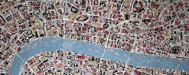, 'Terracotta, Gold and Pink London,' 2016, Rebecca Hossack Art Gallery