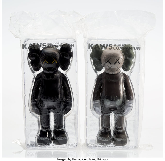 KAWS, 'Companion (Black and Brown) (Open Edition) (two works)', 2016, Heritage Auctions